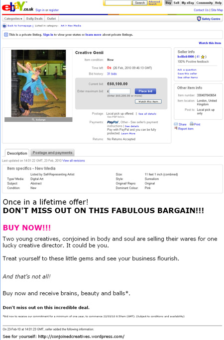 Creatives on ebay