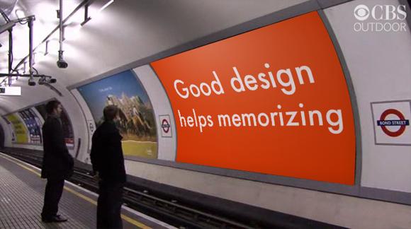 Good design helps memorizing